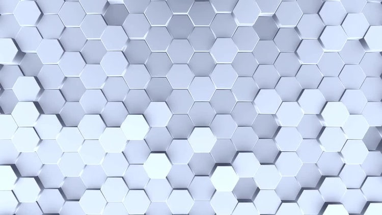 Silver Hexagon Looping Background: Stock Motion Graphics
