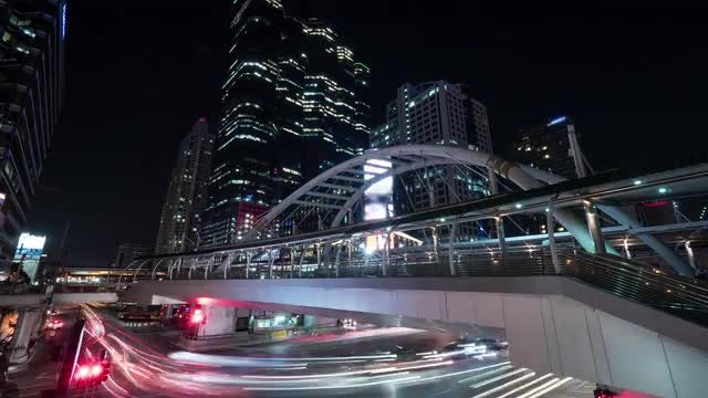Busy Road In Bangkok: Stock Video