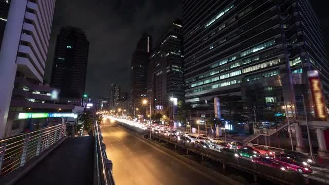 Busy Highway in Bangkok: Stock Video