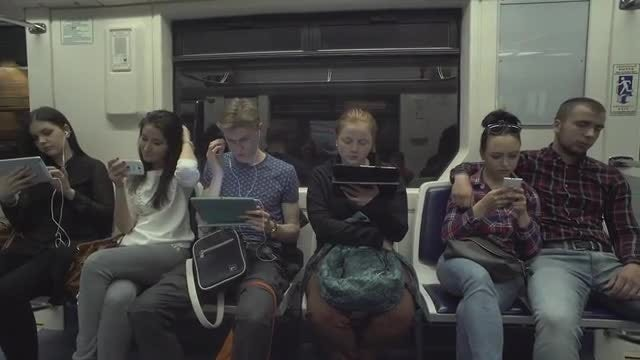 Young People Using Digital Devices: Stock Video