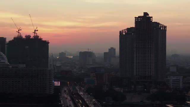 Time Lapse Of Bangkok: Stock Video