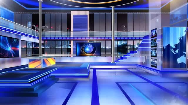 News Room Virtual Set 2: Stock Motion Graphics