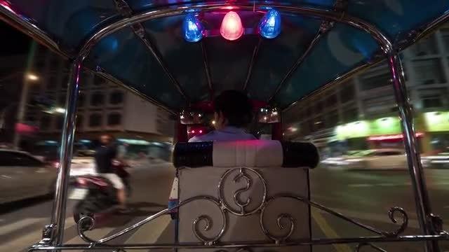 Time Lapse Of A Tuktuk: Stock Video