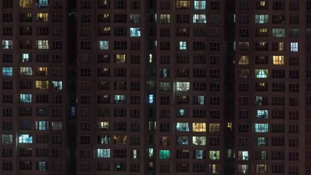 Time Lapse Of High-rise Apartment: Stock Video