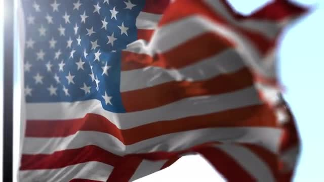 Realistic USA Flag: Stock Motion Graphics