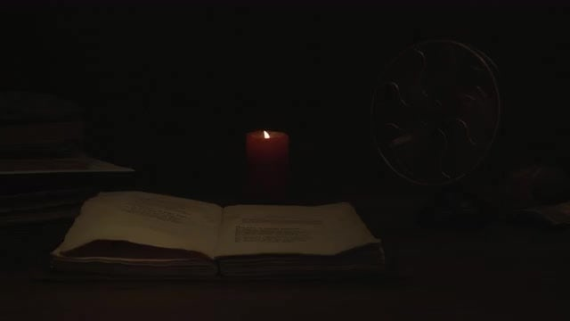 Candle In Dark Room: Stock Video