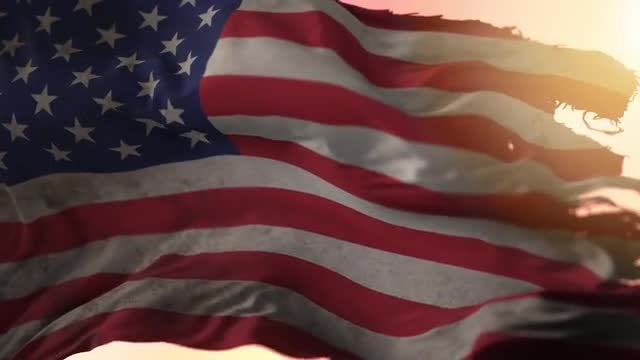 Torn USA Flag: Stock Motion Graphics