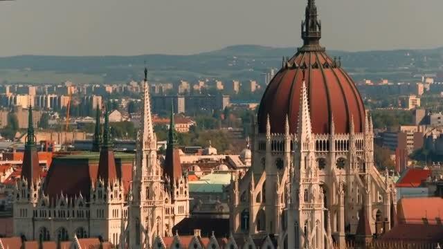 Close Up Of Hungarian Parliament: Stock Video