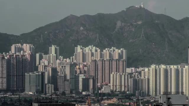 Time-Lapse of Residential Area in Hong Kong: Stock Video