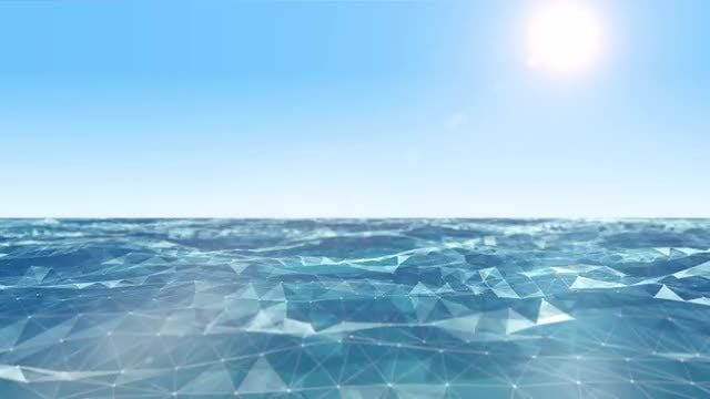 Plexus Ocean: Stock Motion Graphics