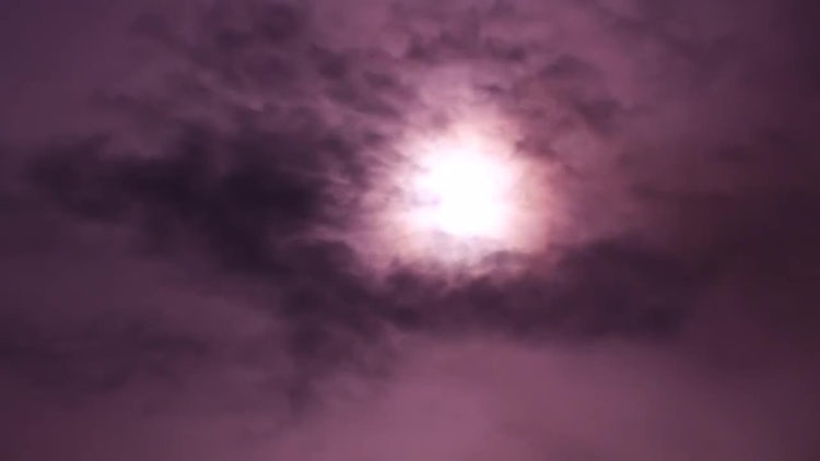 Pink Smoke On The Cloudy Sun: Stock Video