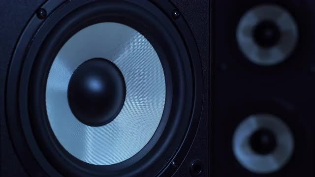 Close-up Shot Of Subwoofer: Stock Video