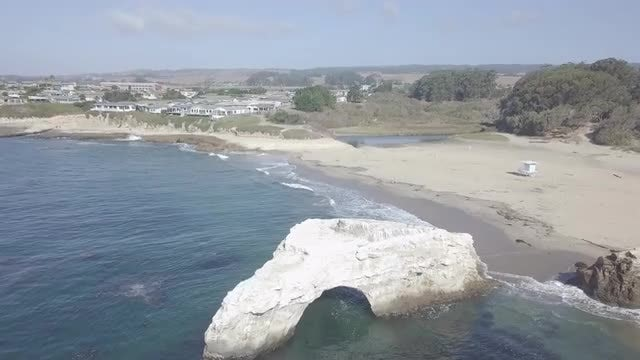 Archway On An Empty Beach: Stock Video