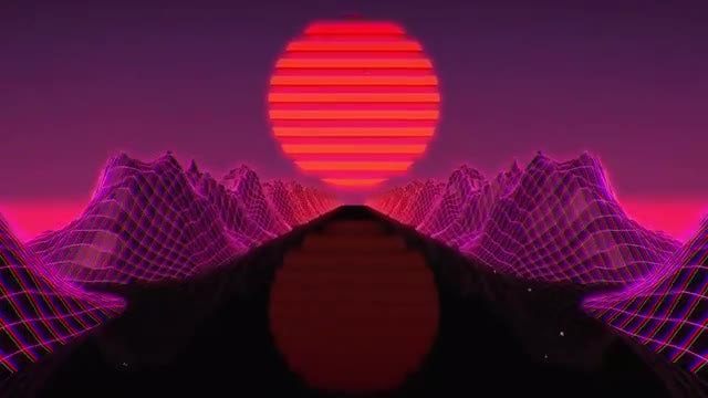 Retro Neon Loop: Stock Motion Graphics