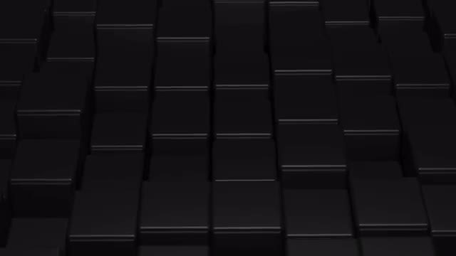 Black Cubes Rise And Lower: Stock Motion Graphics