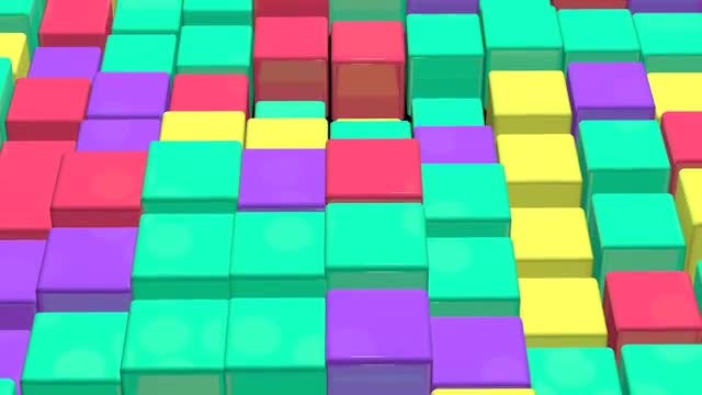 Color Cubes: Stock Motion Graphics