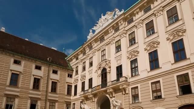 POV Of The Hofburg Palace: Stock Video