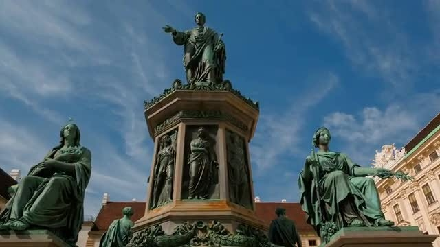 Statue Of Francis II In Vienna: Stock Video