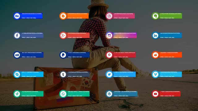 20 Social Media Lower Thirds - After Effects 128530 - Free download