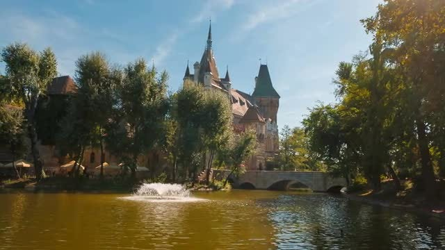 Wide Shot Of Medieval Castle, Hungary: Stock Video