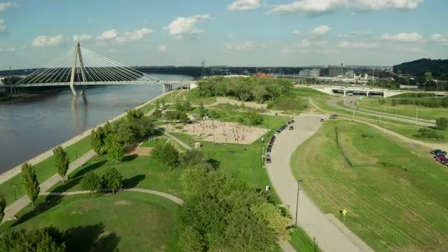 Aerial Shot Of A Park: Stock Video