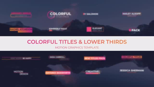 Colorful Titles & Lower Thirds: Motion Graphics Templates