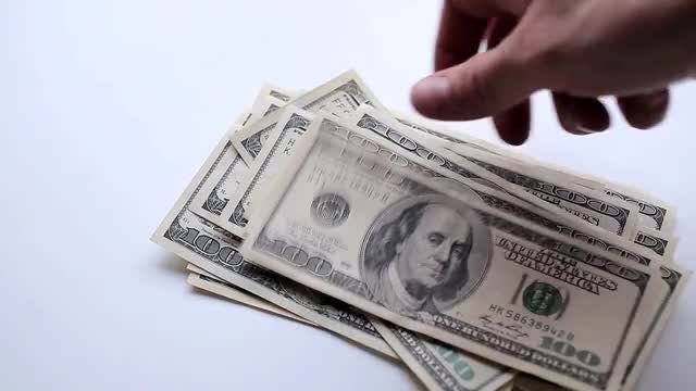 Man Counting Dollar Bills: Stock Video