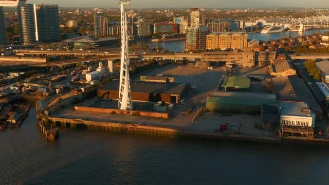 London Docklands From Above: Stock Video