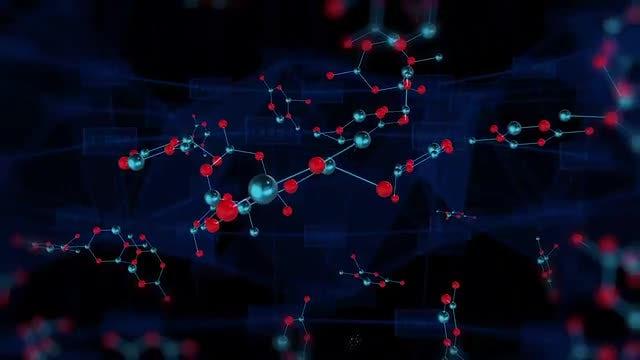 Molecule Bonding Background: Stock Motion Graphics
