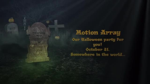 Halloween Dark Opener: After Effects Templates