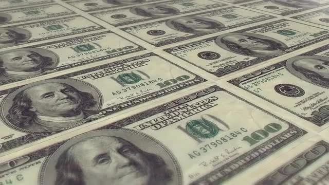 100 dollar bills loop: Stock Motion Graphics