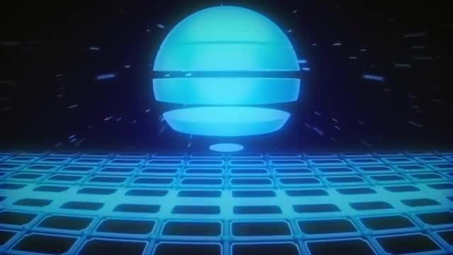 Retro Striped Sun VJ Loop: Stock Motion Graphics
