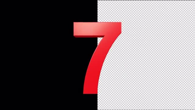 Red 3D Numbers Pack: Stock Motion Graphics