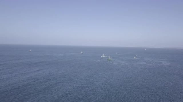 Aerial Shot Of Calm Sea: Stock Video