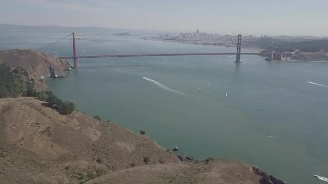 Aerial Shot of San Francisco Bay: Stock Video