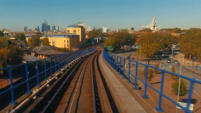 Train Ride In The City: Stock Video