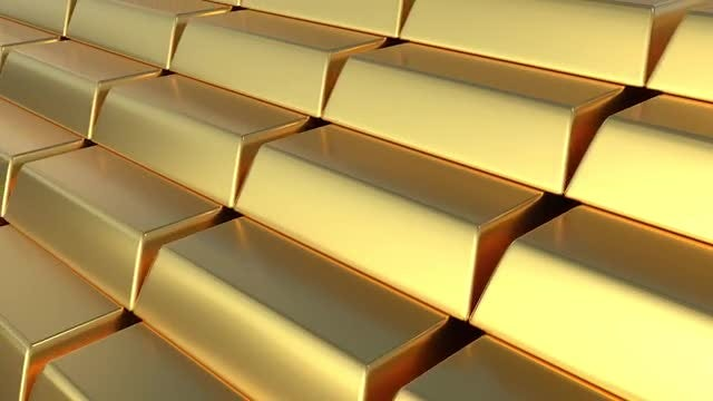 Golden Bars Loop: Stock Motion Graphics