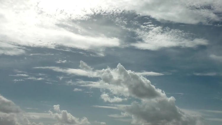 Grey Cumulus Clouds Spreading Slowly: Stock Video