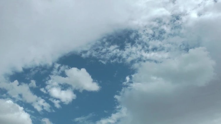 White Rain Clouds Spreading Slowly: Stock Video