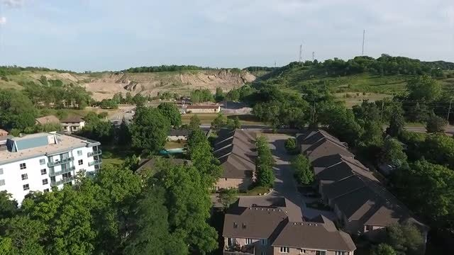 Aerial View Of Residential Area: Stock Video