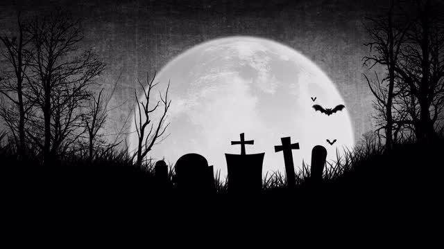 Halloween Cemetery: Stock Motion Graphics