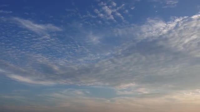 Cirrocumulous Clouds At Sunset: Stock Video