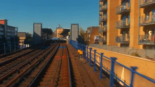 London From The Rear Of A Train: Stock Video
