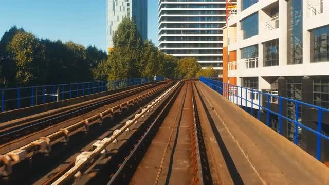 Fast-paced Train Ride In London: Stock Video