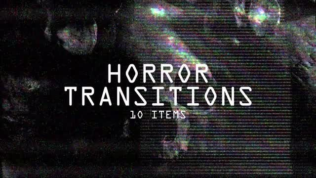 Horror Transitions: Stock Motion Graphics