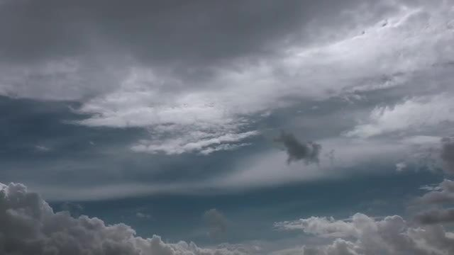 Overcast Dark Gray Sky Background: Stock Video