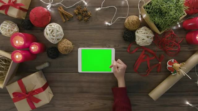 Digital Tablet With Green Screen: Stock Video