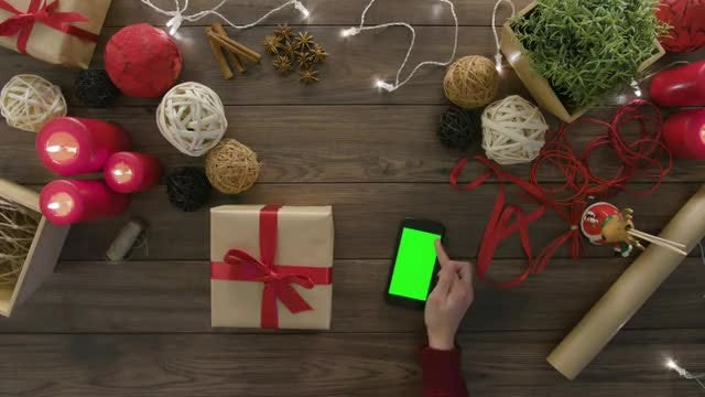 Wrapped Christmas Gift Box: Stock Video