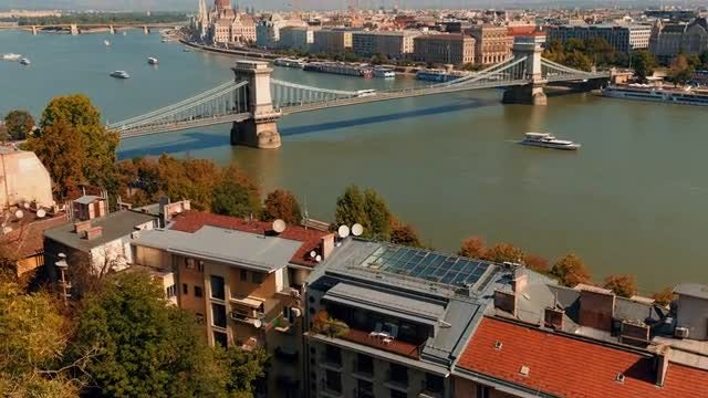 Bridge And Parliament In Budapest: Stock Video