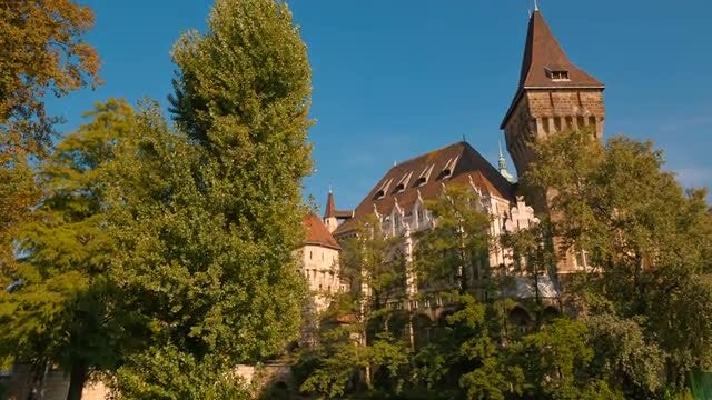 Vajdahunyad Castle In Hungary: Stock Video